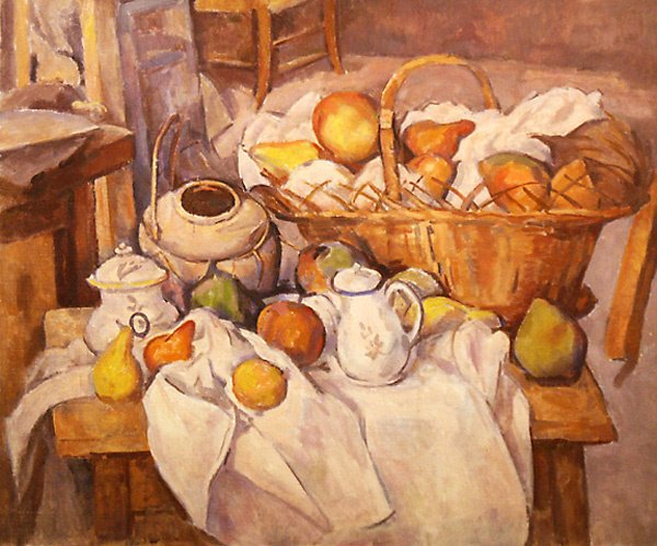 7: Still Life After Cezanne Ptg  Edmund Franklin Ward