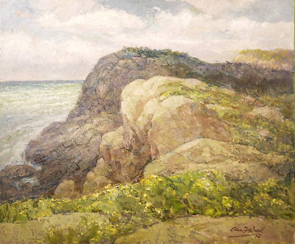 9: Monhegan Painting by Edmund Franklin Ward