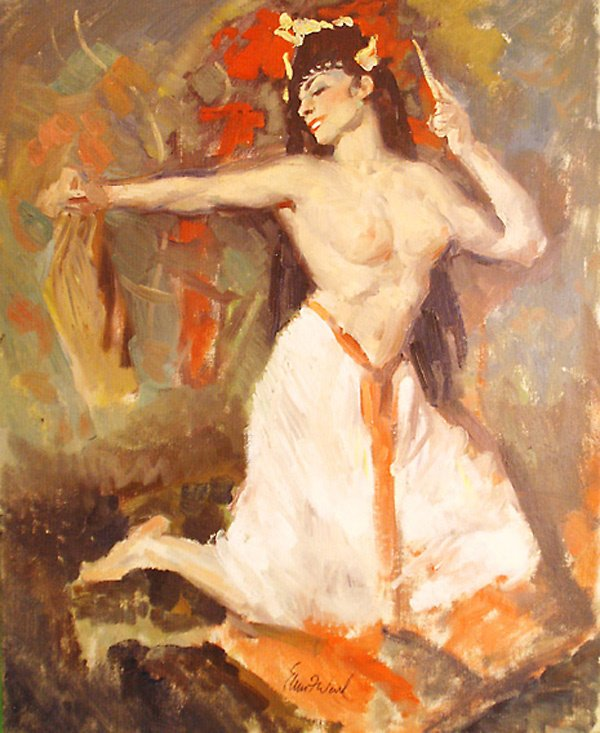 12: Exotic Dancer Painting by Edmund Franklin Ward