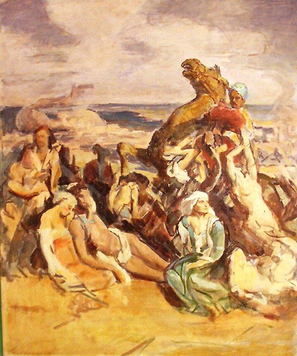 13: After Delacroix Painting by Edmund Franklin Ward