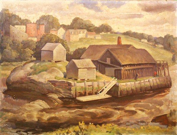 14: Waldoboro Maine Painting  Edmund Franklin Ward