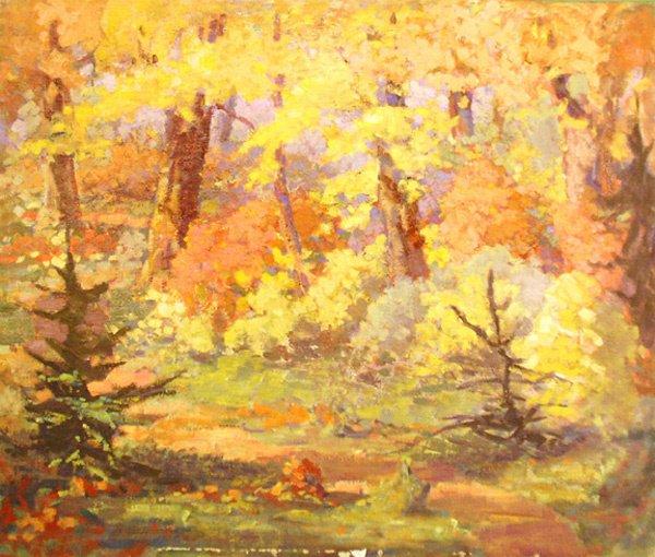 15: Woodland Interior Painting  Edmund Franklin Ward