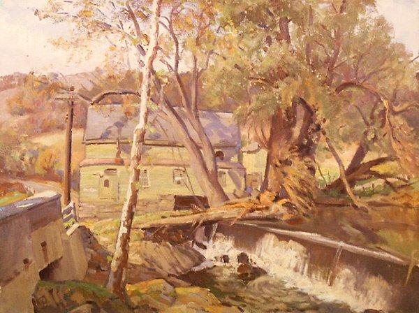 16: Mill Dam Painting by Edmund Franklin Ward