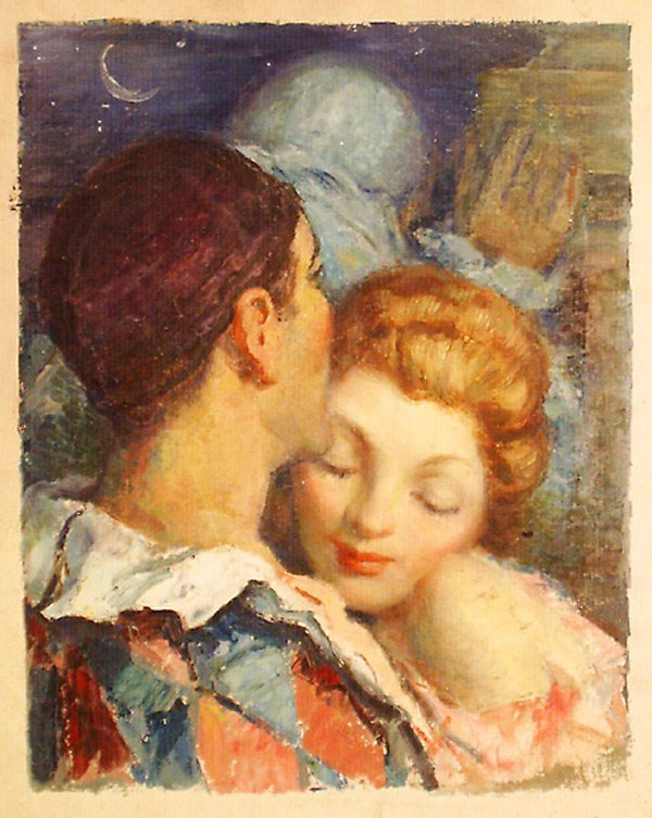 18: Couple Embracing Painting by Edmund Franklin Ward
