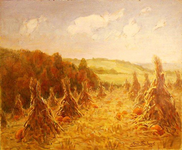20: Haystacks Painting by Edmund Franklin Ward