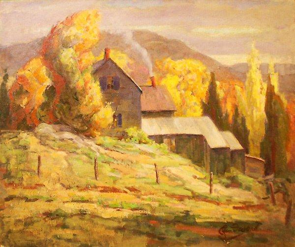 21: New England Farm Painting by Edmund Franklin Ward