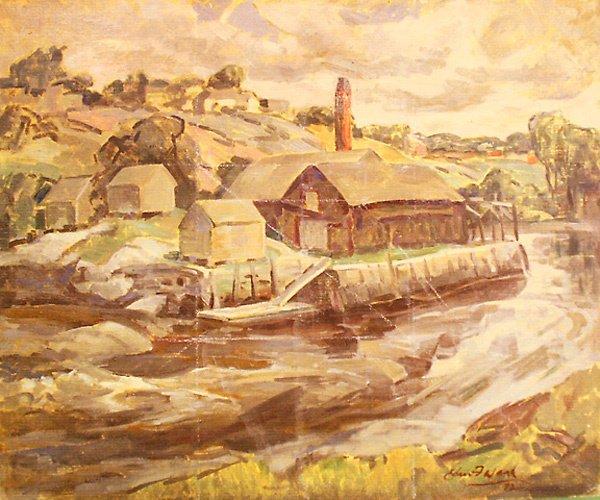 23: Waldoboro Maine Painting by Edmund Franklin Ward