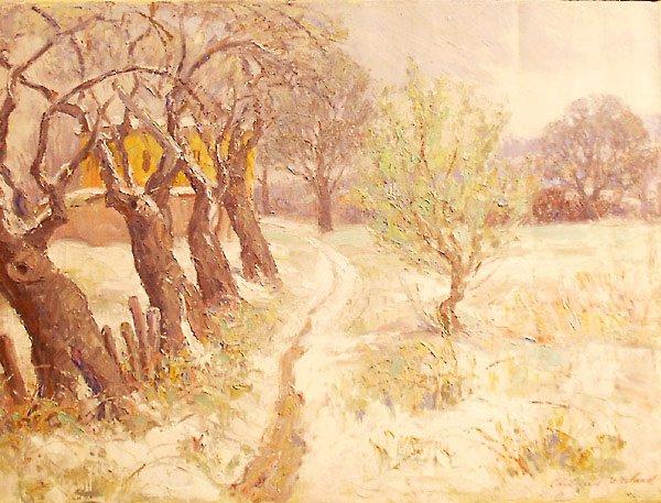 58: Winter Landscape Painting by Edmund Franklin Ward