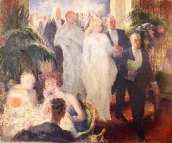 141: High Society Painting by Edmund Franklin Ward