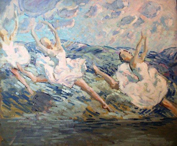 150: Study of Ballerinas Painting  Edmund Franklin Ward