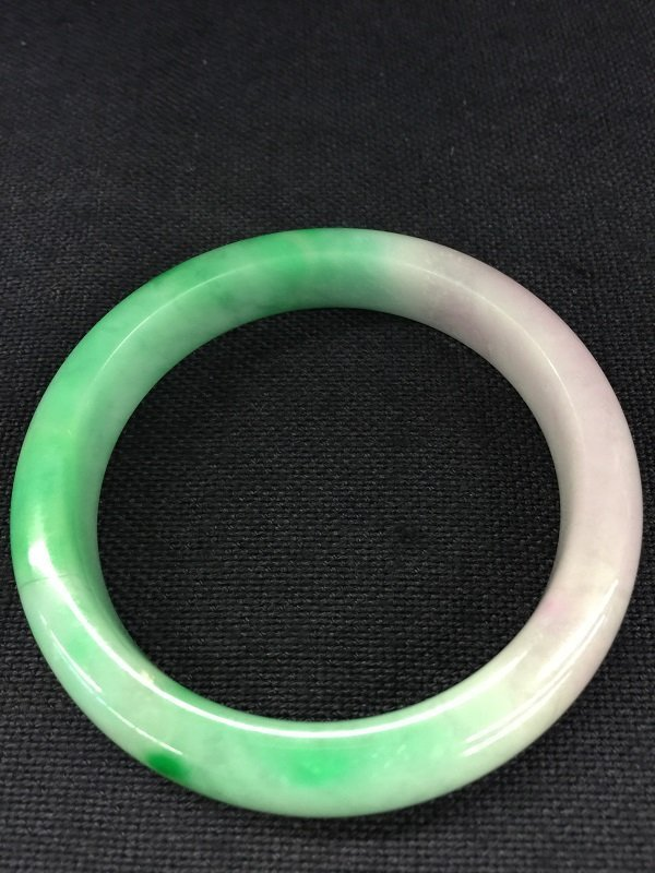 Purple Mixed Green Color Jadeite Bangle