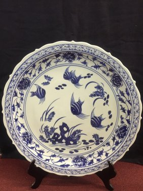 A Nicely Blue And White Porcelain Charger