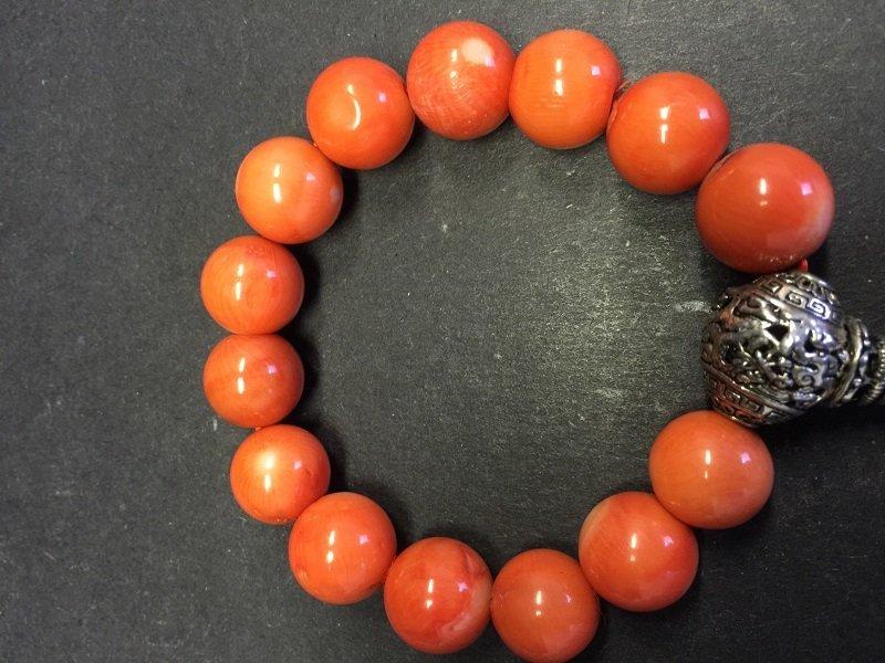 A Fine Beautiful Coral Beads Bracelet - 3