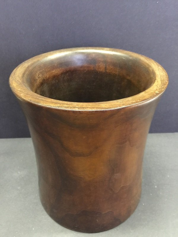 Antique Carved Two Huanghuali Wood Brush Pot - 4