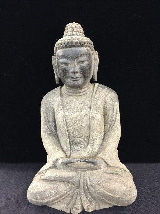 Antique Nicely Carved Stone Buddha