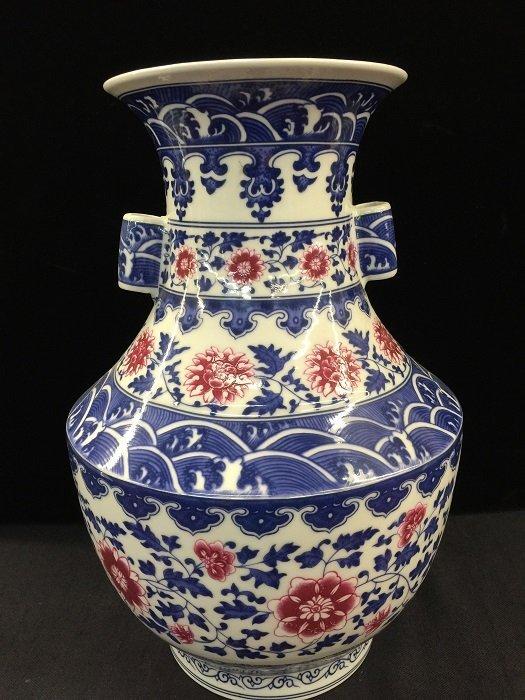 Qing Chinese Blue & White Porcelain Vase