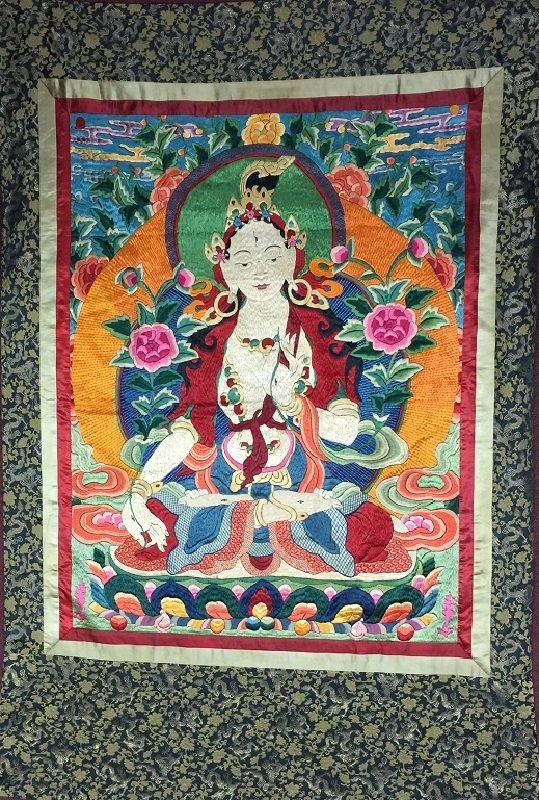 A Finely Silk Tibetan Antique Thangka