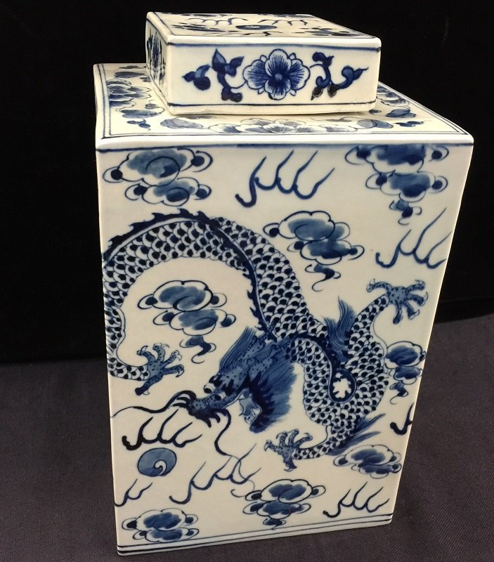 Ming Mark Blue And White Porcelain Tea Pot