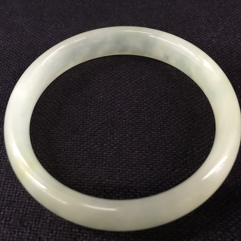 Two Nicely Carved White Jade Bangles - 4