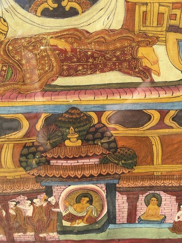 Antique framed Fine Tibetan Thangka - 10