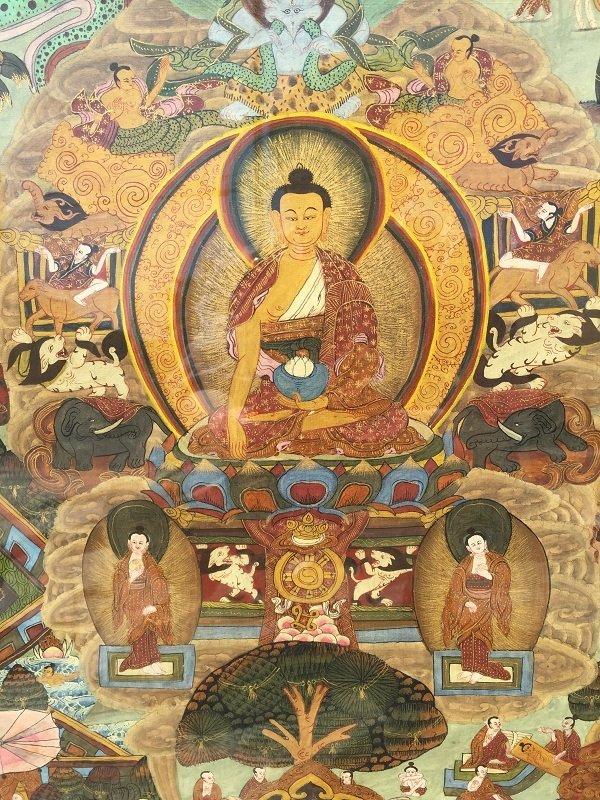 Antique framed Fine Tibetan Thangka - 2