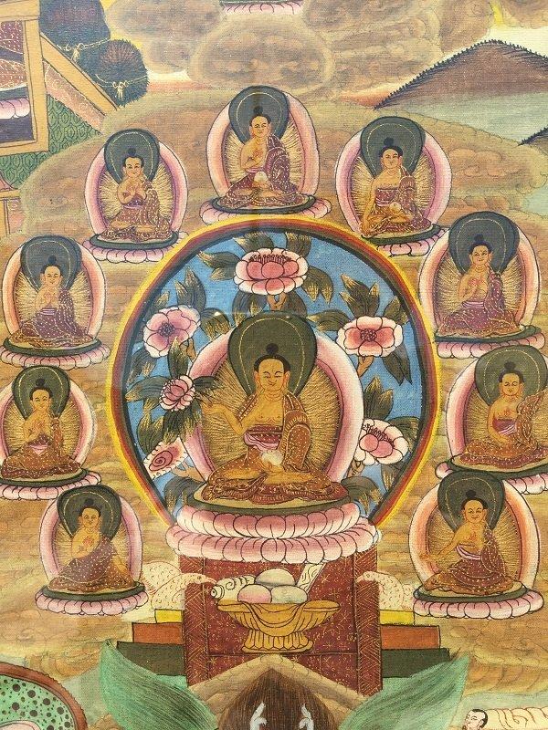 Antique framed Fine Tibetan Thangka - 6