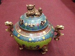 Qing Cloisonné  Incensory