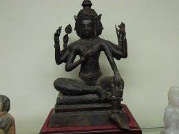 Vintage Bronze Four-Faced Buddha Statue