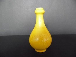 Qing Yellow Color Mei-Ping Style Vase