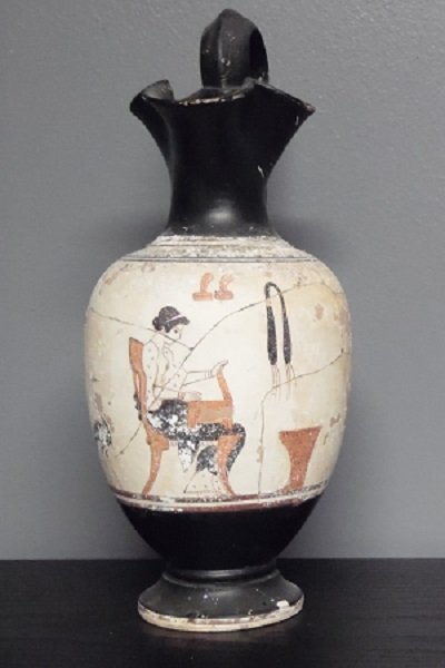 A Rarely Ancient Attic Vase With Pigment Painting
