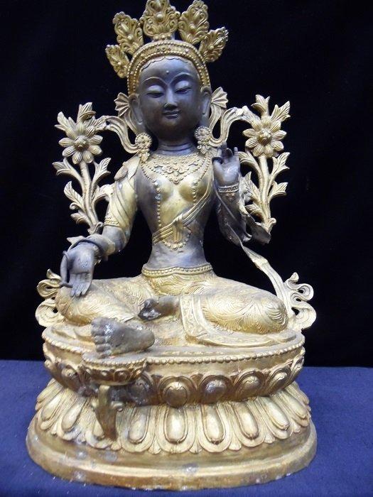 Tibetian Bronze Gilt White Tara ( Sitatara)