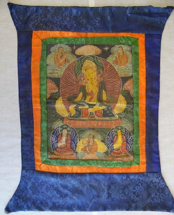 20th Century Colorful Tibetan Thangka