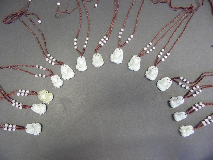 14 Pieces Jadeite Monkey Pendants
