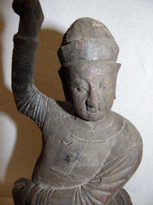 17th C. Wood Carved Chinese Kung Fu Master