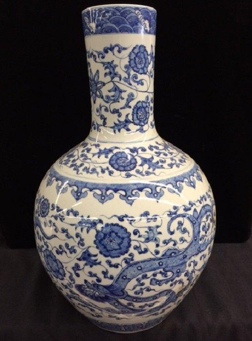 Qing Yongzheng Mark Blue And White Porcelain Vase