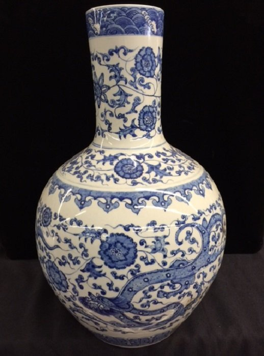 Qing Yongzheng Mark Blue And White Porcelain Vase