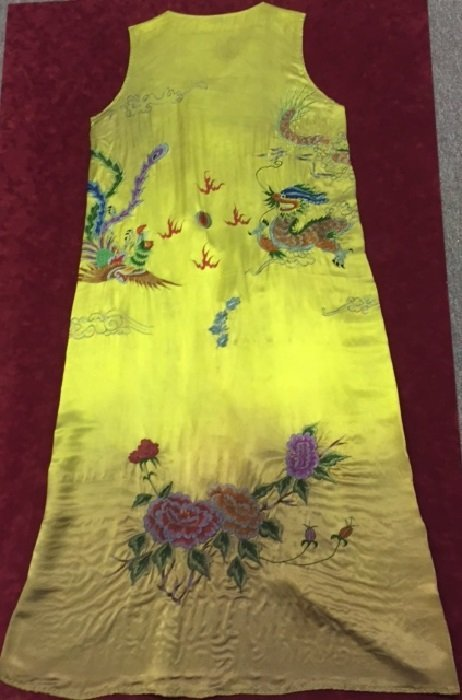 Qing Silk Embroidered Empress Skirt With Motifs