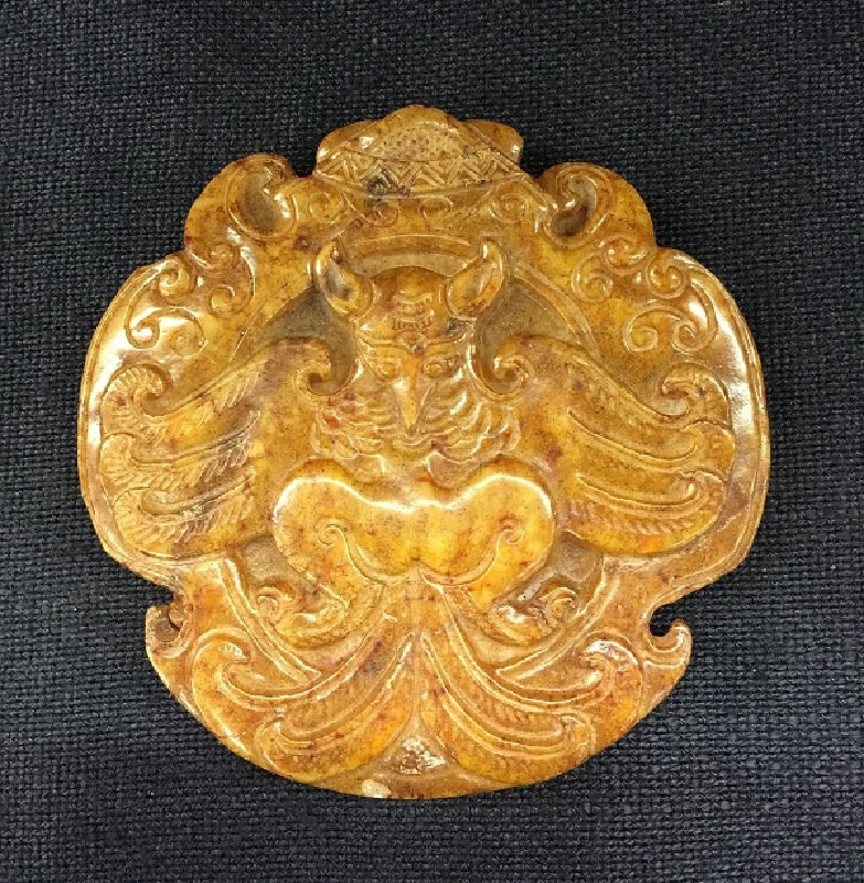 Archaic Fine Carved Jade Phoenix Totem