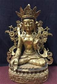 Ming Yong Le Gilt Bronze Tibetan Buddha