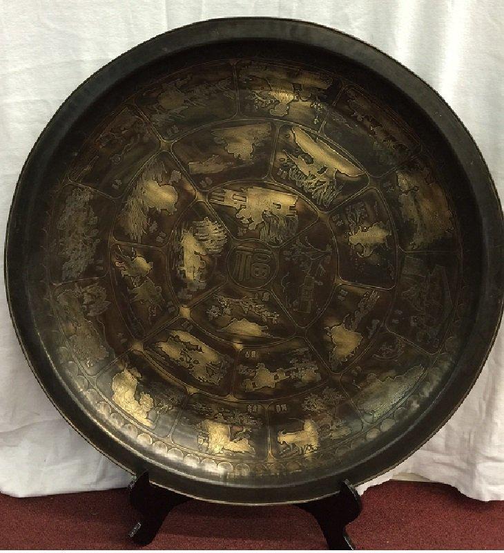 Qing Kangxi Mark 24 Seasonal Signs Copper Plate