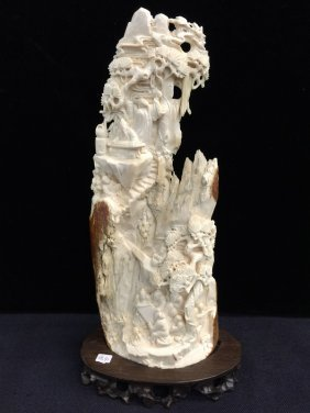 Antique Mammoth Ivory Ancient Chinese And Landscaping