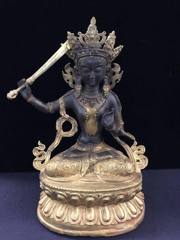 Ming Yong Le Mark Tibetan Gilt Bronze Buddha