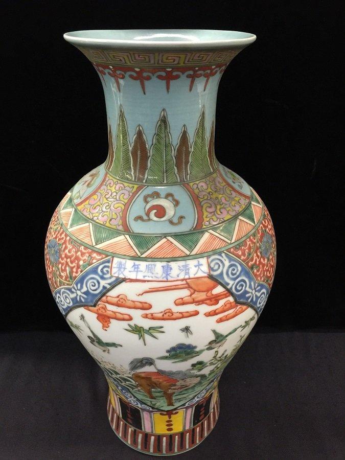 Qing Kangxi Mark Famillie Rose Porcelain Vase