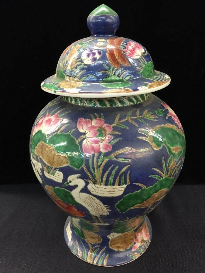 Qing Mark Wu Cai Porcelain Temple Jar
