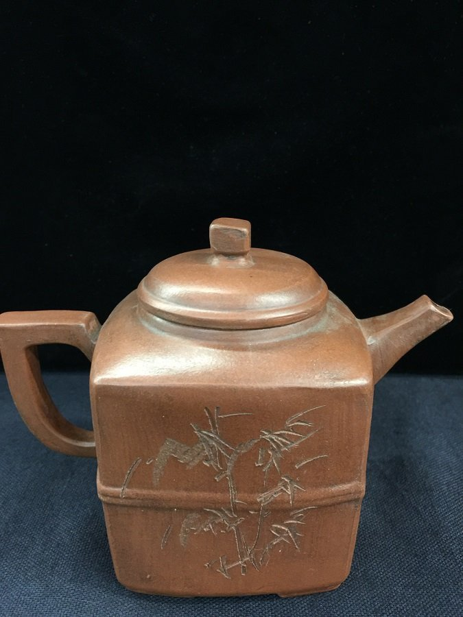 Antique Square Shape Zisha Tea Pot - 2