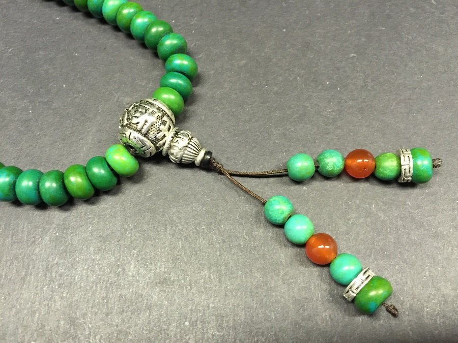 A Finely Carved Turquoise Beads Necklace - 2