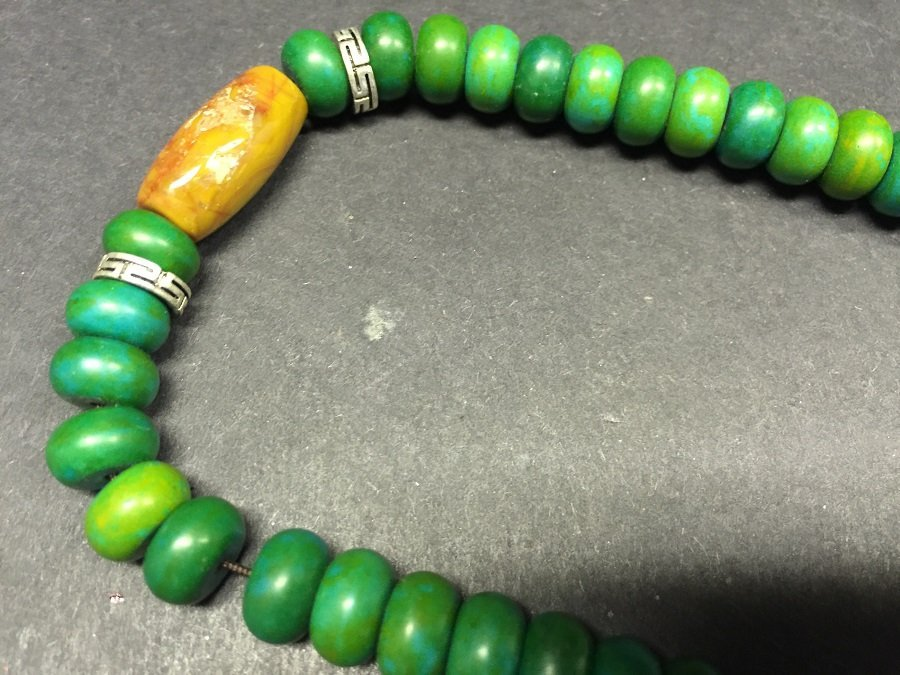 A Finely Carved Turquoise Beads Necklace - 4