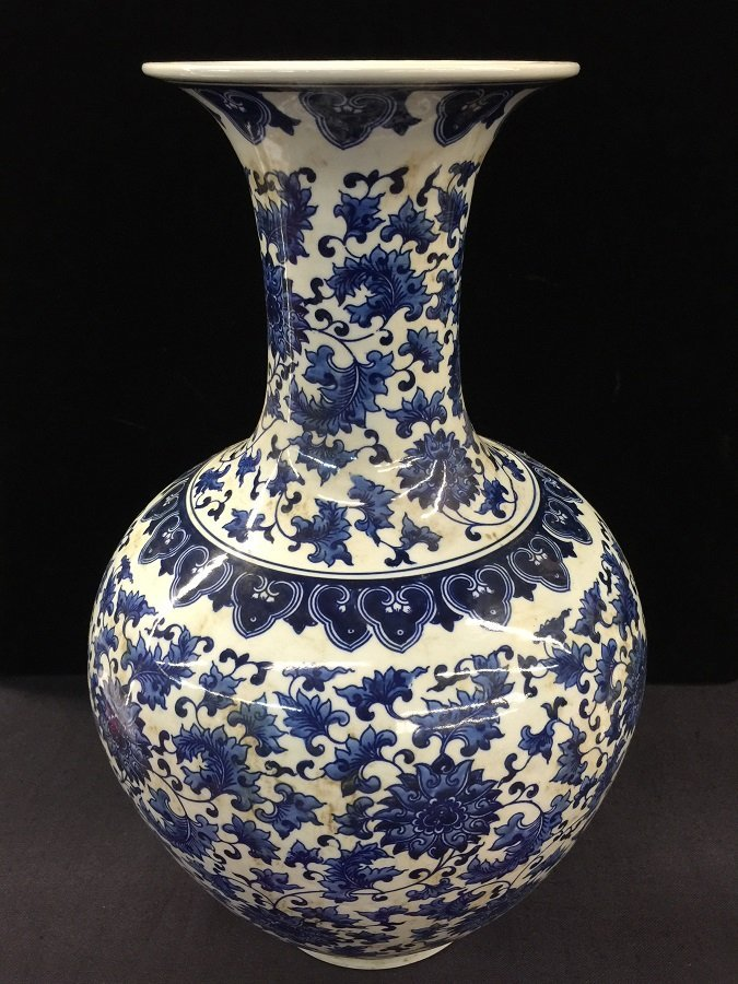 Qing Mark Blue And White Porcelain Vase - 2