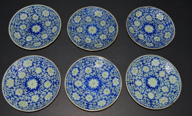 Chinese 6pcs DaoGuang Porcelain Plates
