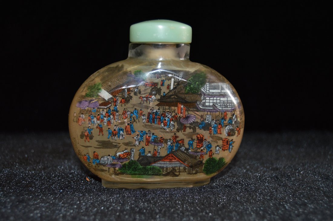 Large Chineses Interior Painted Glasd Snuff Bottle